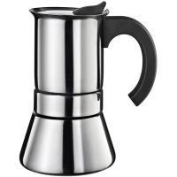 Cafetera de acero inoxidable, apto para todo tipo de cocinas, EROSKI, 6 tazas