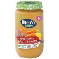 Potito de ternera con zanahorias HERO, tarro 235 g