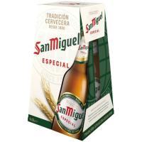 Cerveza SAN MIGUEL, pack botellín 4x33 cl