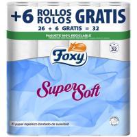 Higienico FOXY Super Soft, paquete 26+6 rollos