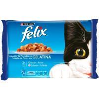 Alimento de pescado FELIX, pack 4x100 g