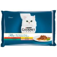 Alimento en salsa para gato GOURMET Perle, pack 4x85 g