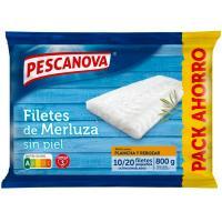 Filetes de merluza sin piel PESCANOVA, bolsa 800 g