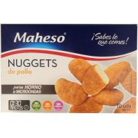 Nuggets de pollo microondas MAHESO, caja 260 g