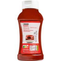 Ketchup EROSKI basic, bocabajo 560 g