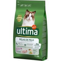 Control bolas de pelo para gato ULTIMA, saco 1,5 kg