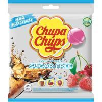 Caramelos con palo sabores sin azúcar CHUPA CHUPS, bolsa 66 g