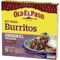 Burrito Kit OLD EL PASO, 8 tortillas, 1 sazonador, pack 510 g