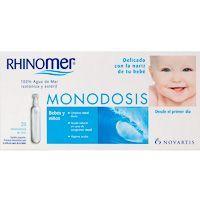 Agua de mar en monodosis RHINOMER, pack 20 unid.