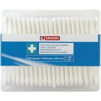 Bastoncillos de algodón EROSKI, caja 200 unid.