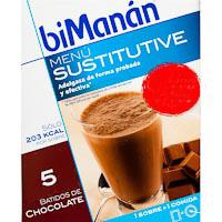 Batido de chocolate BIMANÁN, caja 5 unid.