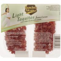 Taquitos de jamón light SANCHEZ ALCARAZ, pack 2x50 g