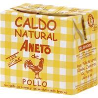 Caldo natural de pollo ANETO, brik 500 ml