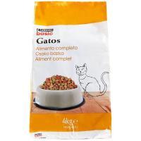 Alimento completo para gato EROSKI basic, saco 4 kg