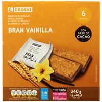 Barrita bran natural EROSKI, 6 uds., caja 240 g