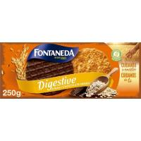 Galleta Digestive de avena con chocolate FONTANEDA, caja 250 g