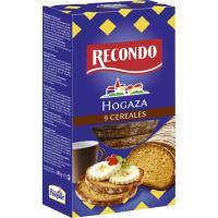 Hogaza de pan tostado con cereales RECONDO, caja 240g