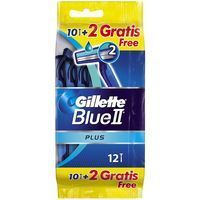 Maquinilla desechable GILLETTE Blue II Plus, pack 10+2 unid.