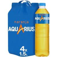 Bebida isotónica de naranja AQUARIUS, pack 4x1,5 litros