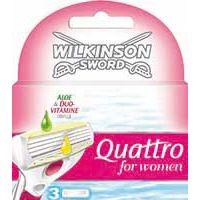 Cargador depilatorio para mujer 4 hojas QUATTRO, pack 4 unid.