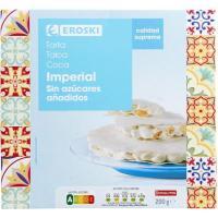 Torta imperial sin azúcar EROSKI, caja 200 g