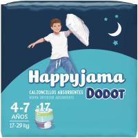 Bragapañal niño Talla 7 DODOT Happyjama, paquete 17 unid.
