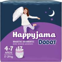Bragapañal niña Talla 7 DODOT Happyjama, paquete 17 unid.