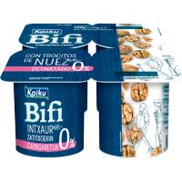 Yogur Bifi Activium 0% con nueces KAIKU, pack 4x125 g