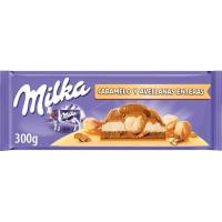 Chocolate con caramelo-avellana MILKA, tableta 300 g