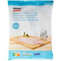 Filete de merluza sin piel EROSKI basic, bolsa 900 g