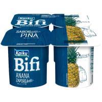 Yogur Bífi Activium de piña KAIKU, pack 4x125 g