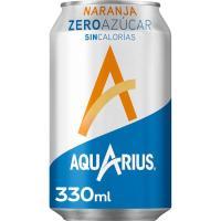 Bebida isotónica de naranja sin azúcar AQUARIUS, lata 33 cl