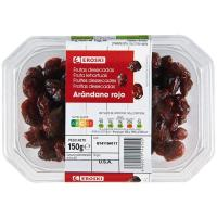 Arándanos rojos EROSKI, tarrina 150 g