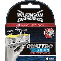 Cargador de afeitar WILKINSON Quattro Titanium, pack 4 unid.