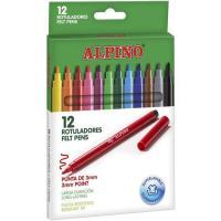 Rotulador surtido colores ALPINO, 12uds