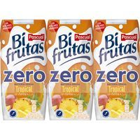 Bifrutas Zero tropical PASCUAL, pack 3x330 ml