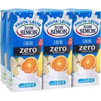 Lactozumo zero sabor Caribe DON SIMÓN, pack 6x200 ml