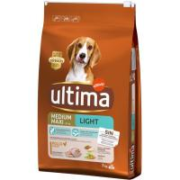 Alimento light para perro mediamo-maxi ULTIMA, saco 7 kg