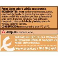 Flan de vainilla EROSKI basic, pack 6x100 g