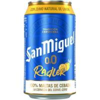 Cerveza sabor limón 0,0 SAN MIGUEL Shandy, lata 33 cl