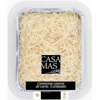 Canelones caseros de carne CASA MAS, bandeja 350 g