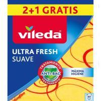 Bayeta Suave 30%  Microfibras VILEDA, pack 2+1 unid.