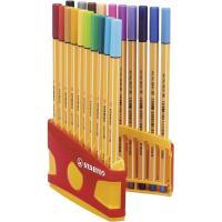 Rotulador colores punta fina, estuche premium Colorparade STABILO, Caja 20 uds