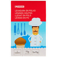 Levadura EROSKI 5 sobres, paquete 75 g