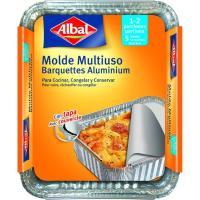 Molde de aluminio multiuso c/ tapa 14x13 cm ALBAL, paquete 5 uds