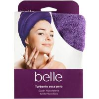 Toalla turbante seca pelo belle & ACCESSORISE, pack 1 unid.