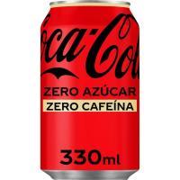 Refresco de cola COCA COLA Zero Zero, lata 33 cl