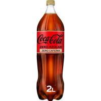 Refresco de cola COCA COLA Zero Zero, botella 2 litros
