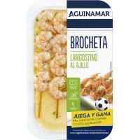 Brocheta de langostino al ajillo AGUINAMAR, bandeja 145 g