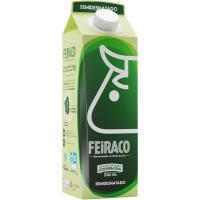Leche semidesnatada FEIRACO, brik 1 litro
